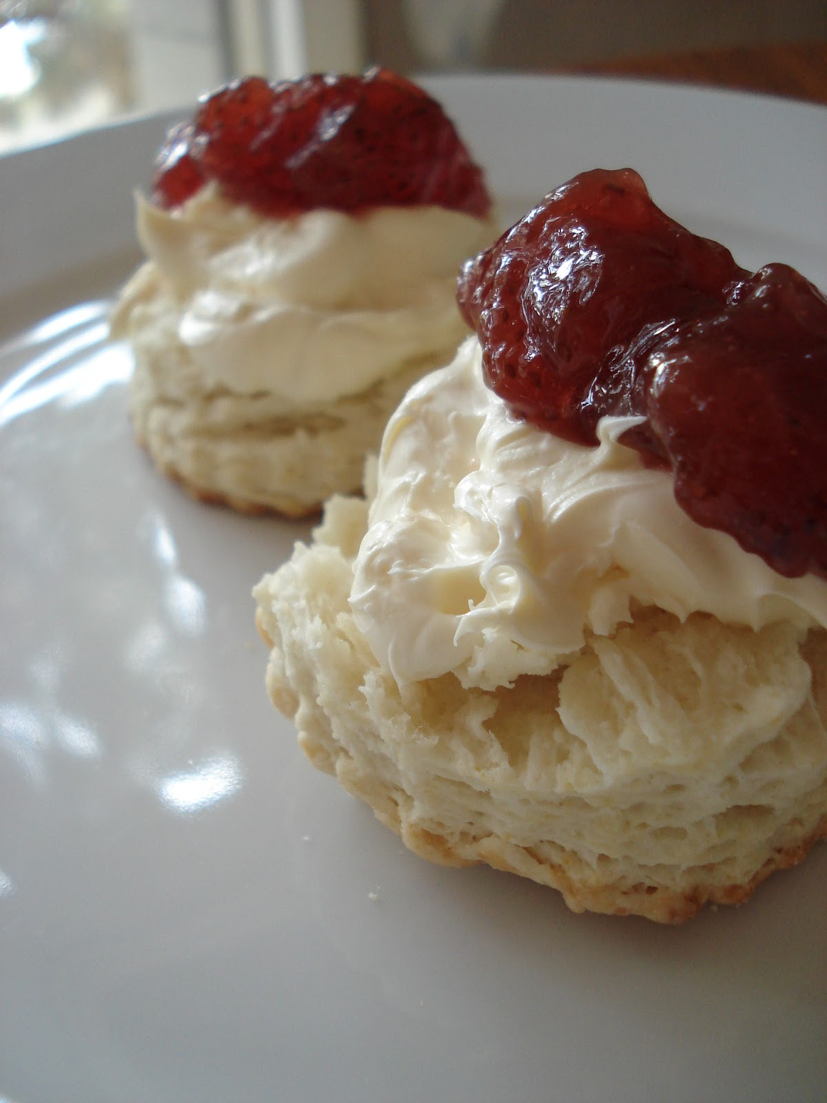 ... : Buttermilk Biscuits w/ English Clotted Cream + Strawberry Preserves