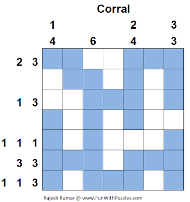 Answer of Corral (Logical Puzzles Series #13)