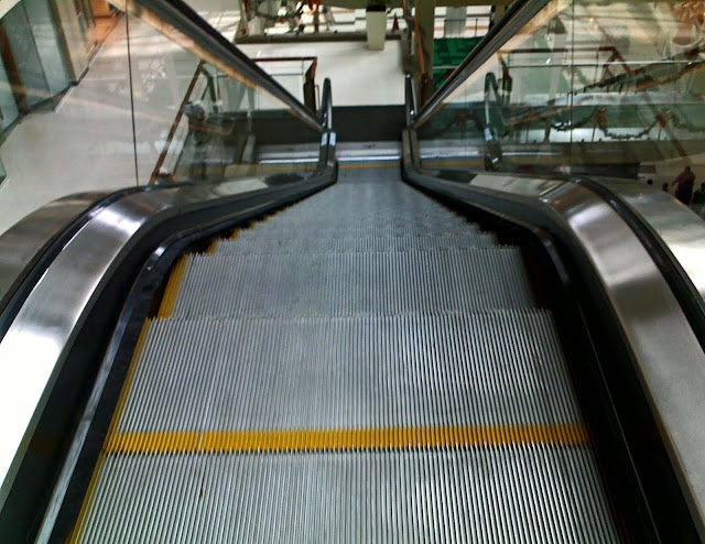 escalator closeup