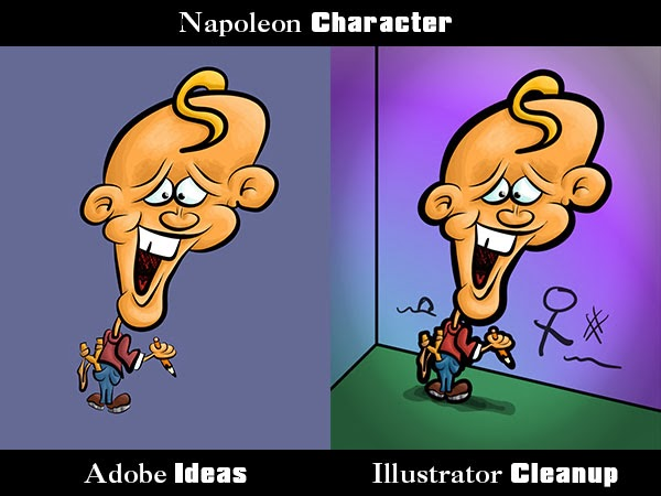 Napoleon Character Adobe Ideas and Illustrator comparison