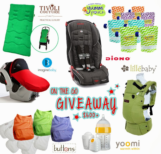 Win a car seat, baby carrier, and cloth diapers
