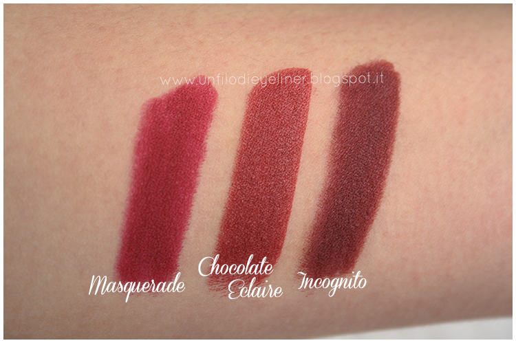 Masquerade, Chocolate Eclaire, Incognito Swatch