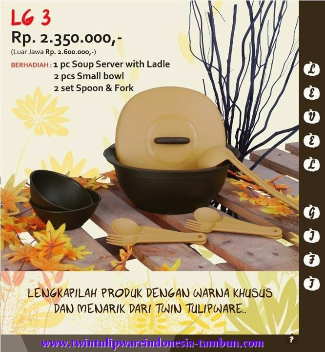 Level Gift Tulipware | September - Oktober 2014