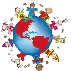 Children around World Clip Art