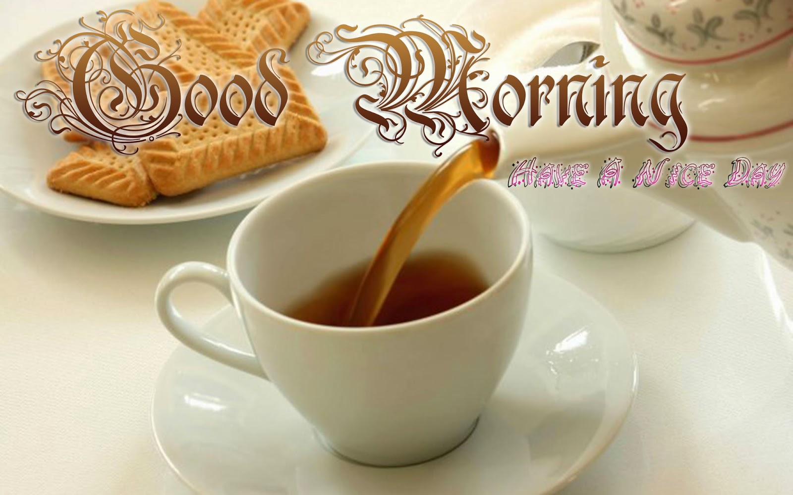 Good-Morning-Wallpaper-With-Cup-Of-Tea-And-Biscuits-Image-HD-Wide