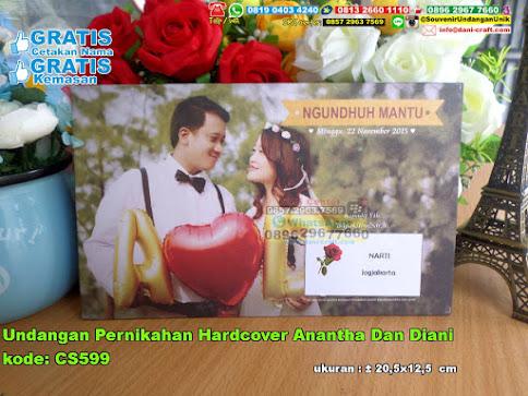 Undangan Pernikahan Hardcover Anantha Dan Diani
