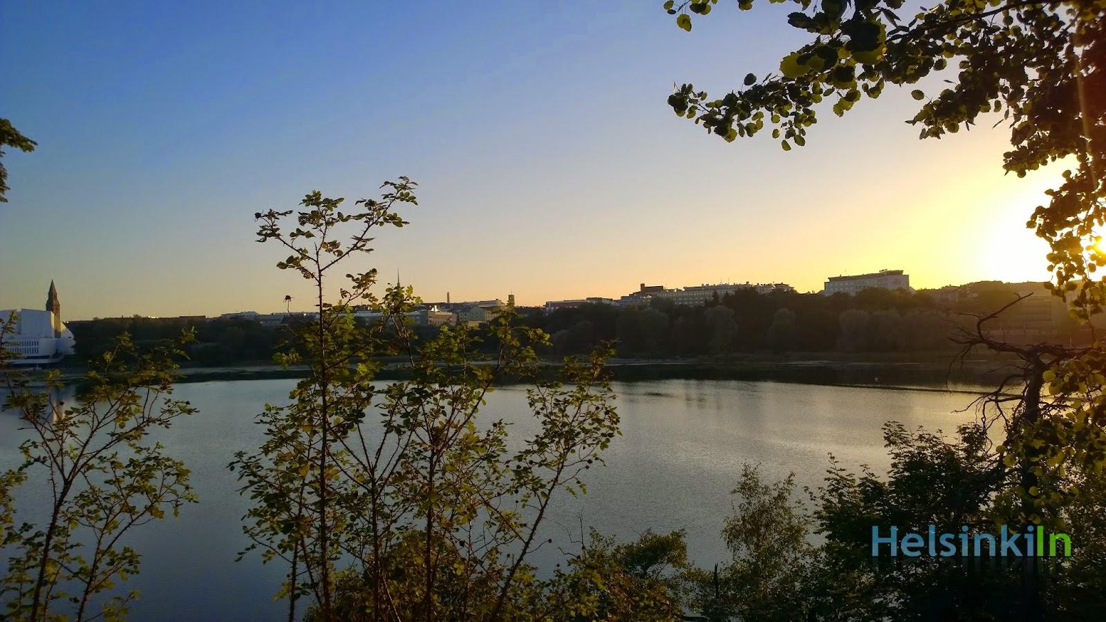 view over Helsinki from Sinisen Huvila Kahvila