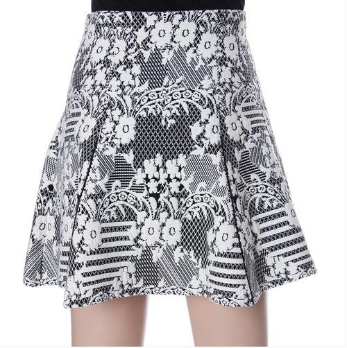 Wool Jacquard Skirt