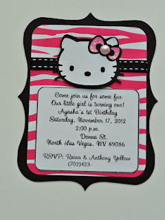 hello kitty birthday party zebra invitations