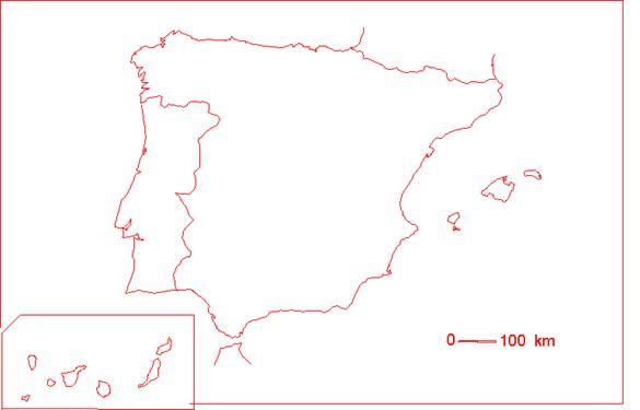 MAPA ESPANYA BLANC