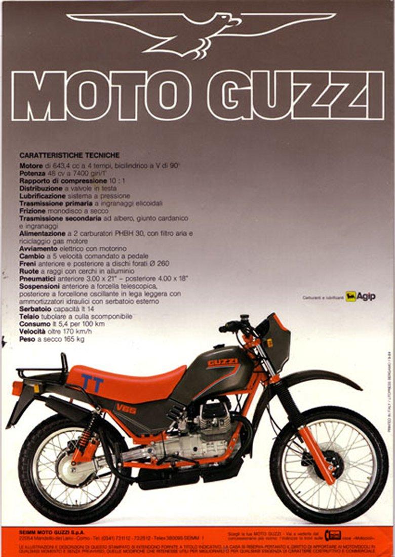 Moto Guzzi V65 TT Brochure