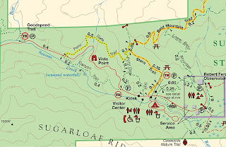 map of hiking trails at Sugarloaf Ridge State Park