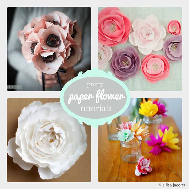 paper flower tutorial round up