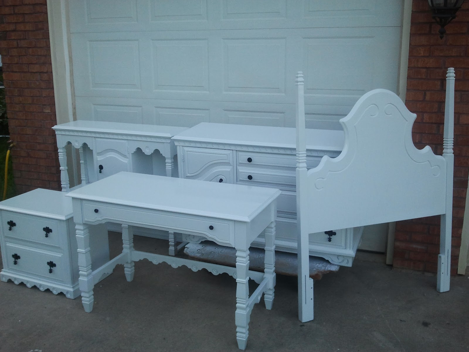 Junk Refurbished Recycled Furniture Shabby Chic Girls Bedroom Set