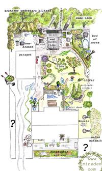 Puutarhakartta Trädgårdskarta Gardenmap