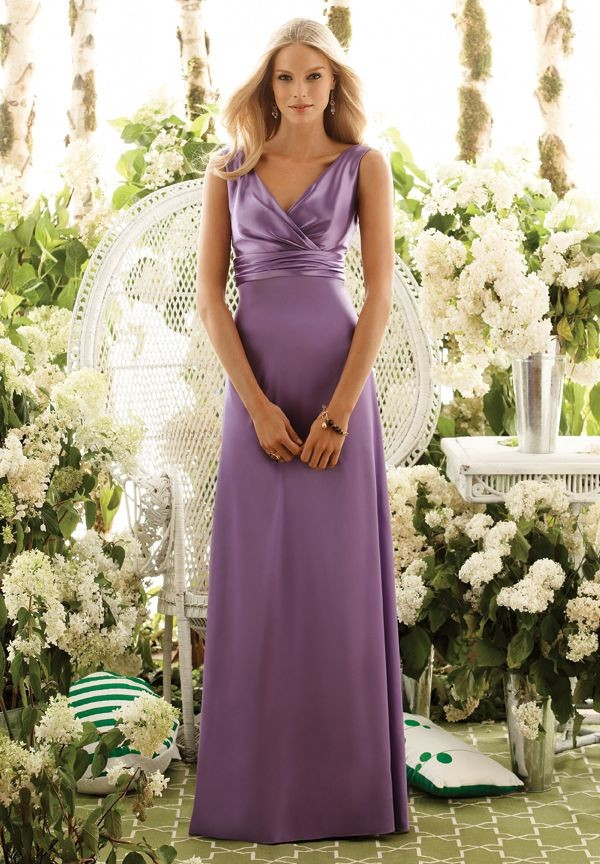 Purple Bridesmaid Dresses in a Simple and Elegant Style | Wedding ...