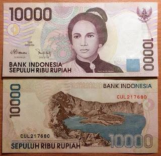 Pecahan 10000 Rupiah emisi 1998