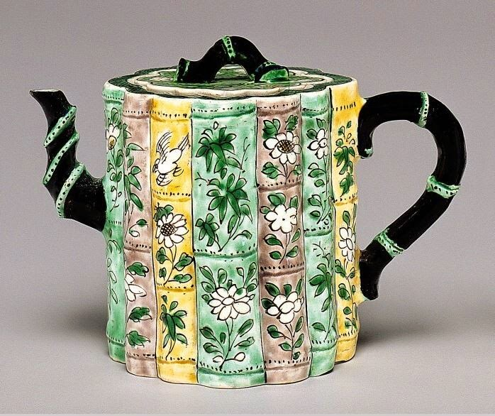 "<img src="" Bamboo Form Kangxi Wine Pot .jpg"" alt="" Famille Verte on Biscuit"">"