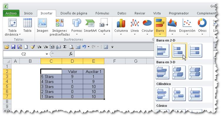 Barras Apiladas Excel Gráfico de Barras Apiladas