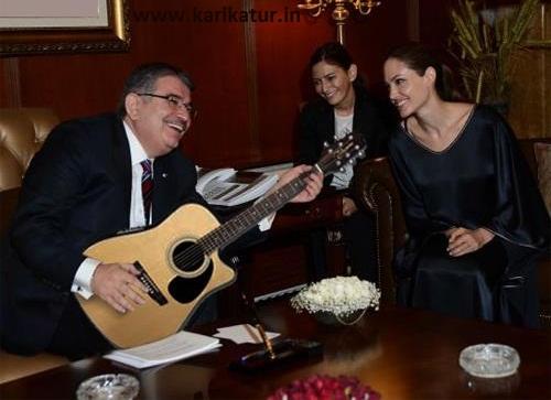 içişleri bakanı naim şahin ile bm barış sözcüsü angelina jolie