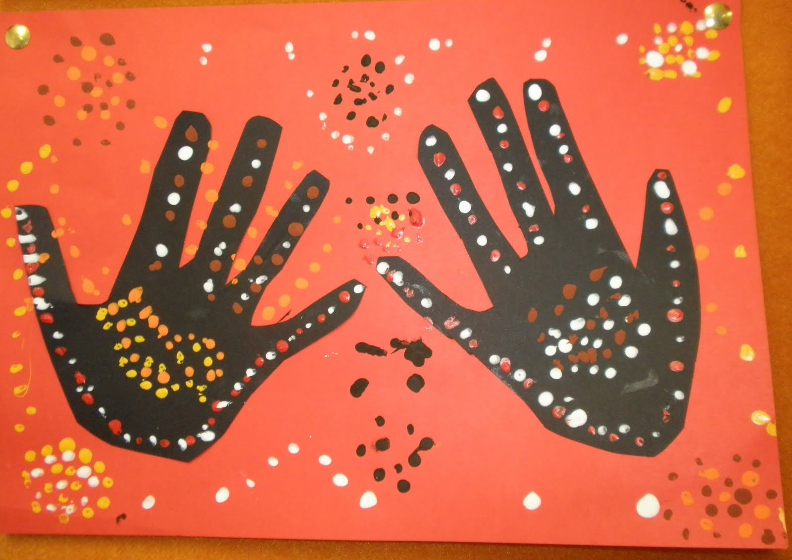 Art with mrs baker aboriginal hand print art year 3 student 2010 toneelgroepblik Images