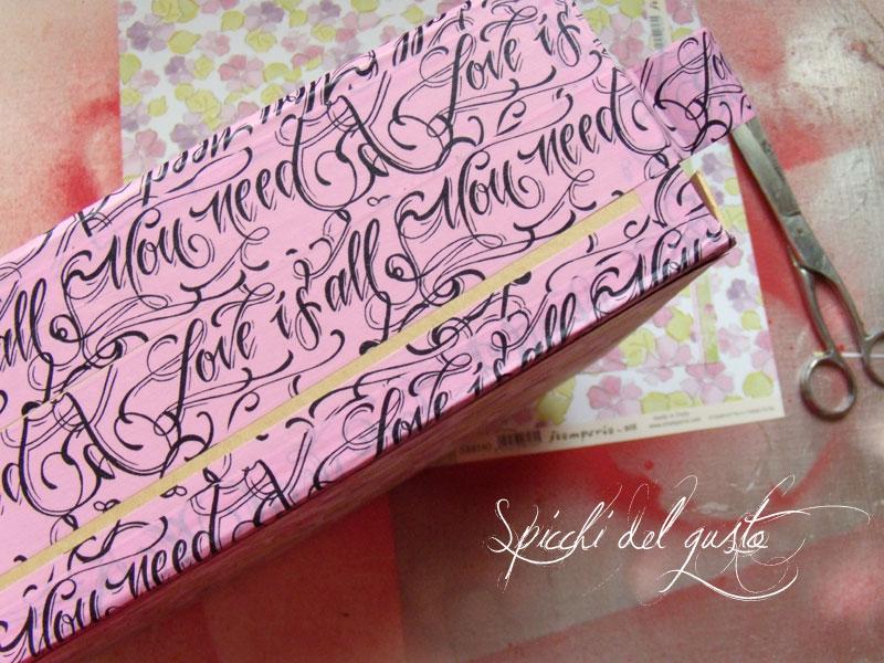 valigetta in cartone con washi tape