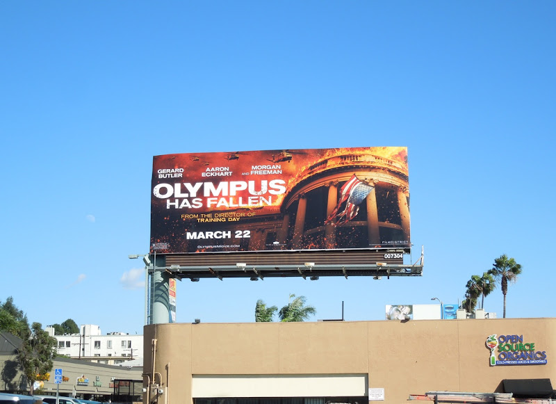 Olympus Has Fallen film billboard