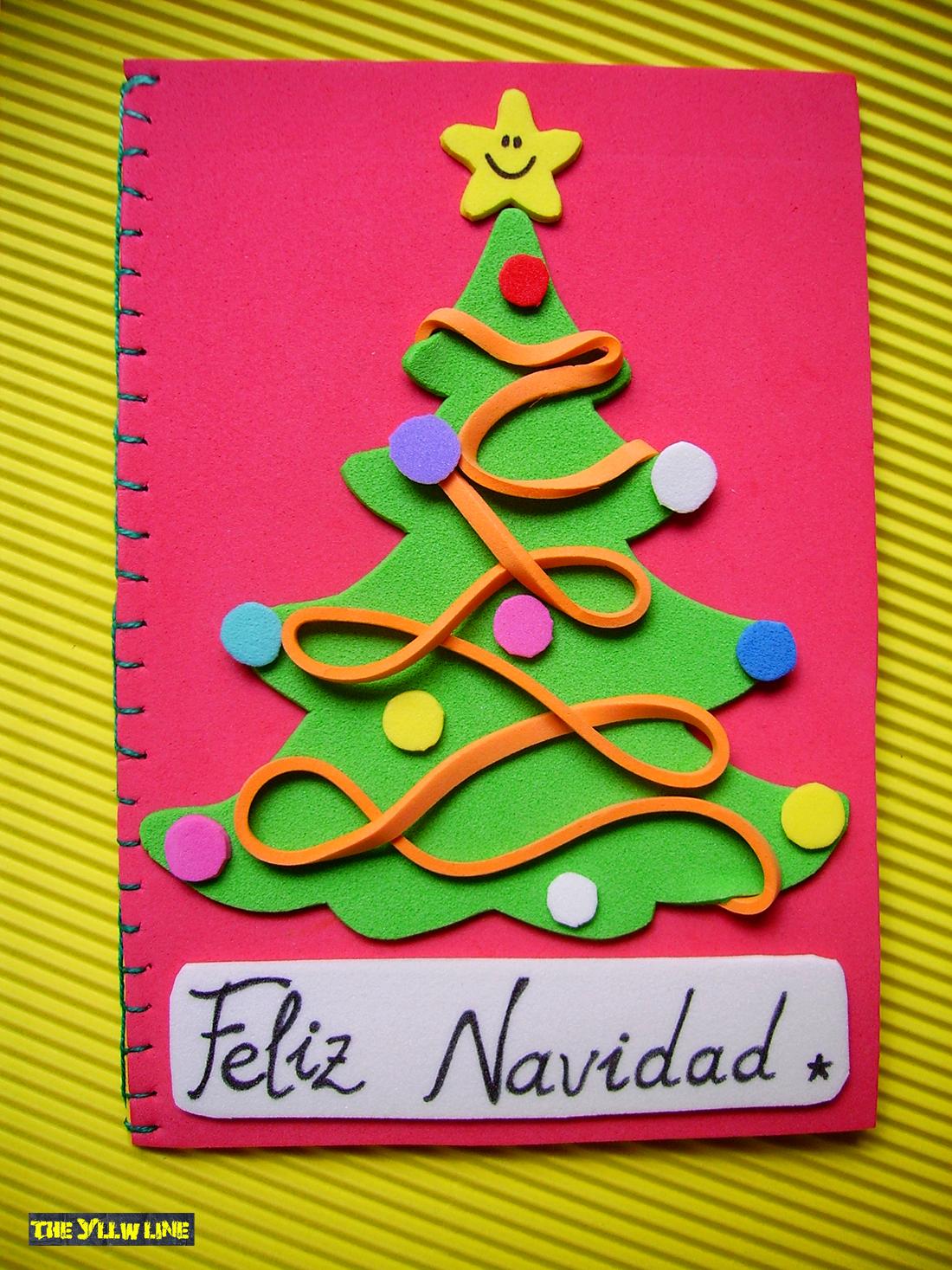 postales de navidad de goma eva my blog - Como Hacer Una Postal De Navidad