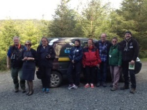 Norwegian visitors to the Mull wildlife hide