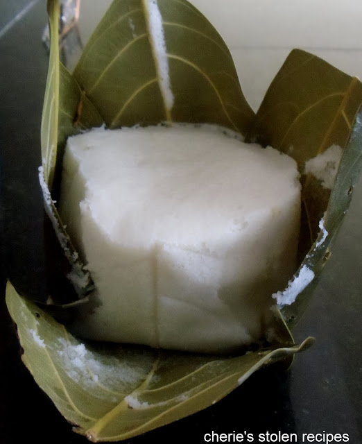 Gunda -idli in jackfruit leaves