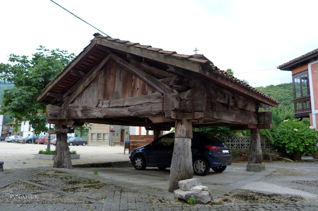 """Horreo"" (tradicional Asturian construction) in the village of Rioseco"