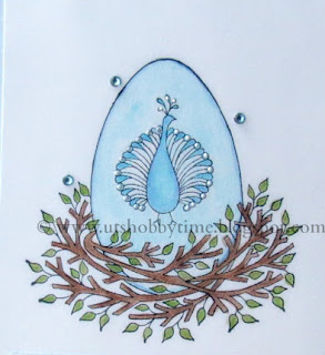 Peacock nest from io stamps