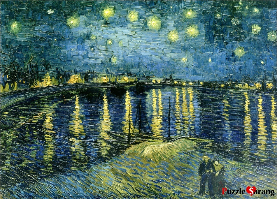 model kit jigsaw puzzle starry night over the rhone. Black Bedroom Furniture Sets. Home Design Ideas
