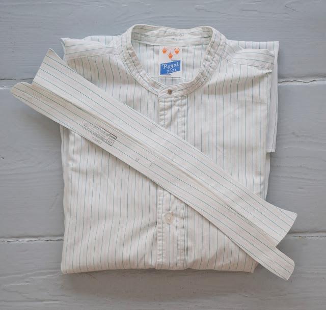 Collarless shirt made by Royal