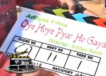 Shooting: Oye Hoye Pyar Ho Gaya - Sharry Mann's Debut Film