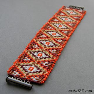 Пестрый браслет из бисера - украшения ручной работы от Anabel