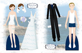 Phil and Katie Wedding Paper Doll