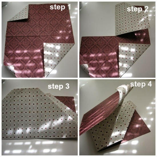 diagonal double pocket card steps