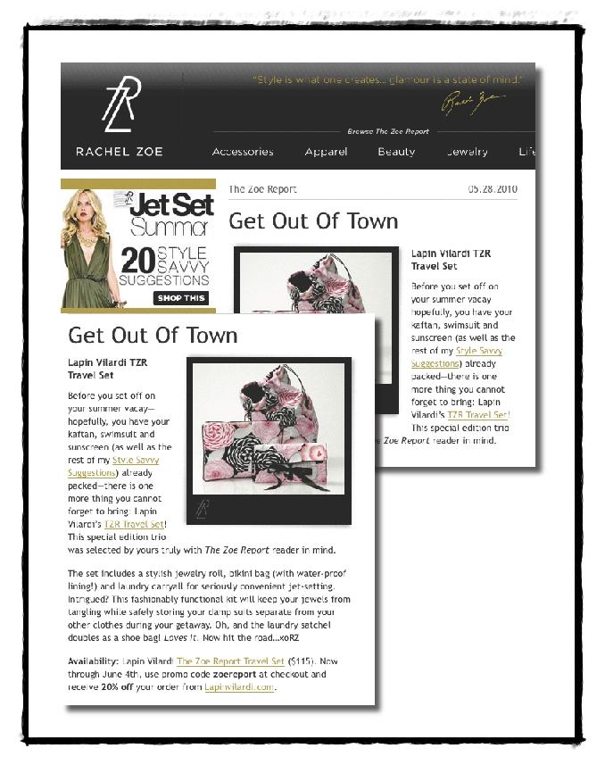 Glamourpuss media february 2012 The zoe report