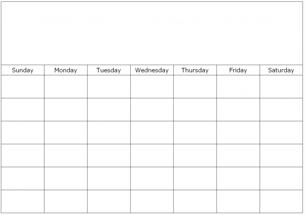 free fill in calendar templates