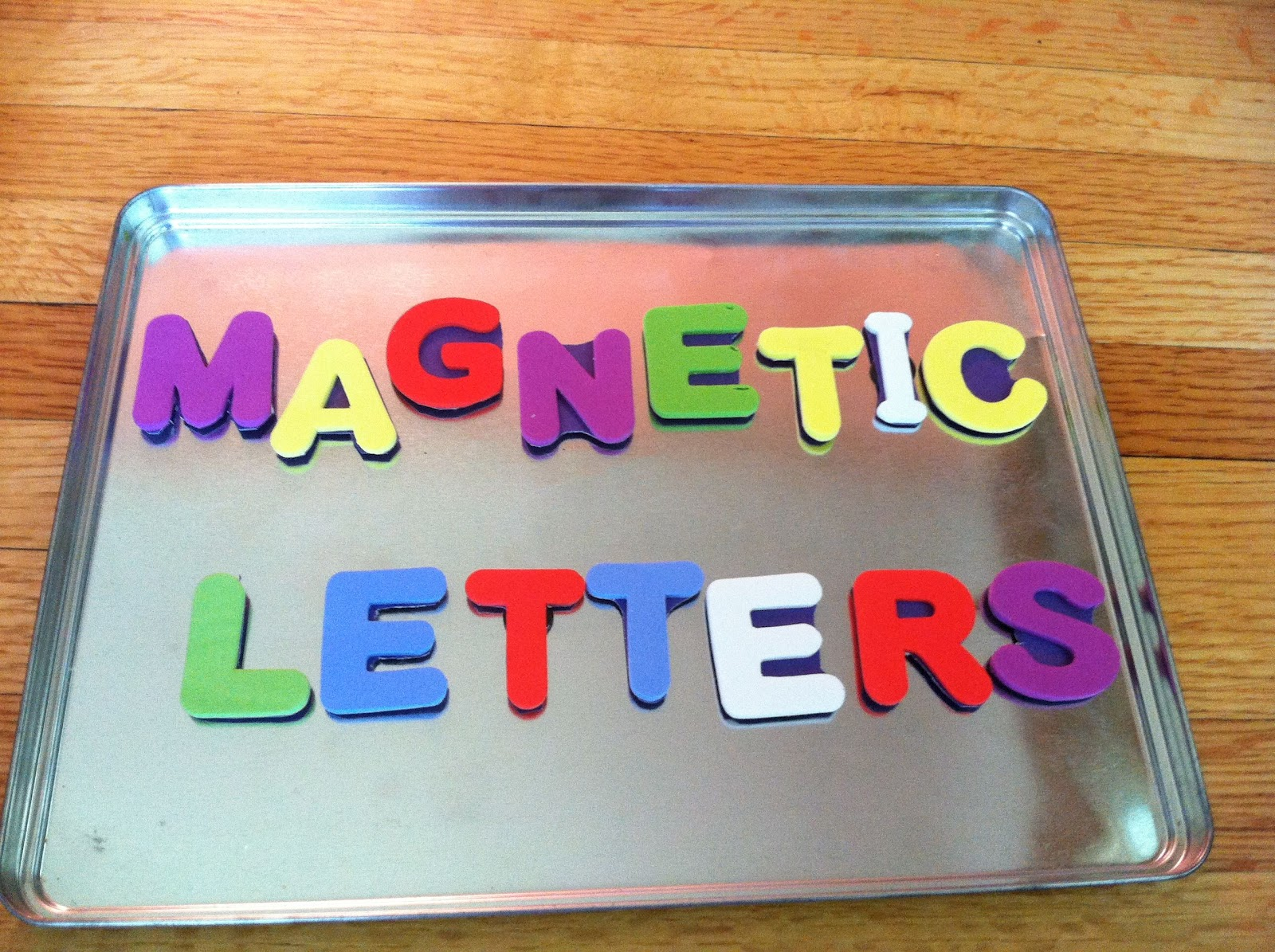 Diy magnetic letters and numbers the kid friendly home for Magnetic letters for 1 year old