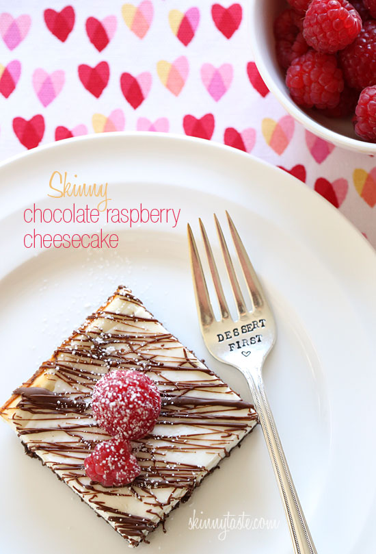 Chocolate Raspberry Cheesecake Skinny Chocolate Raspberry Cheesecake