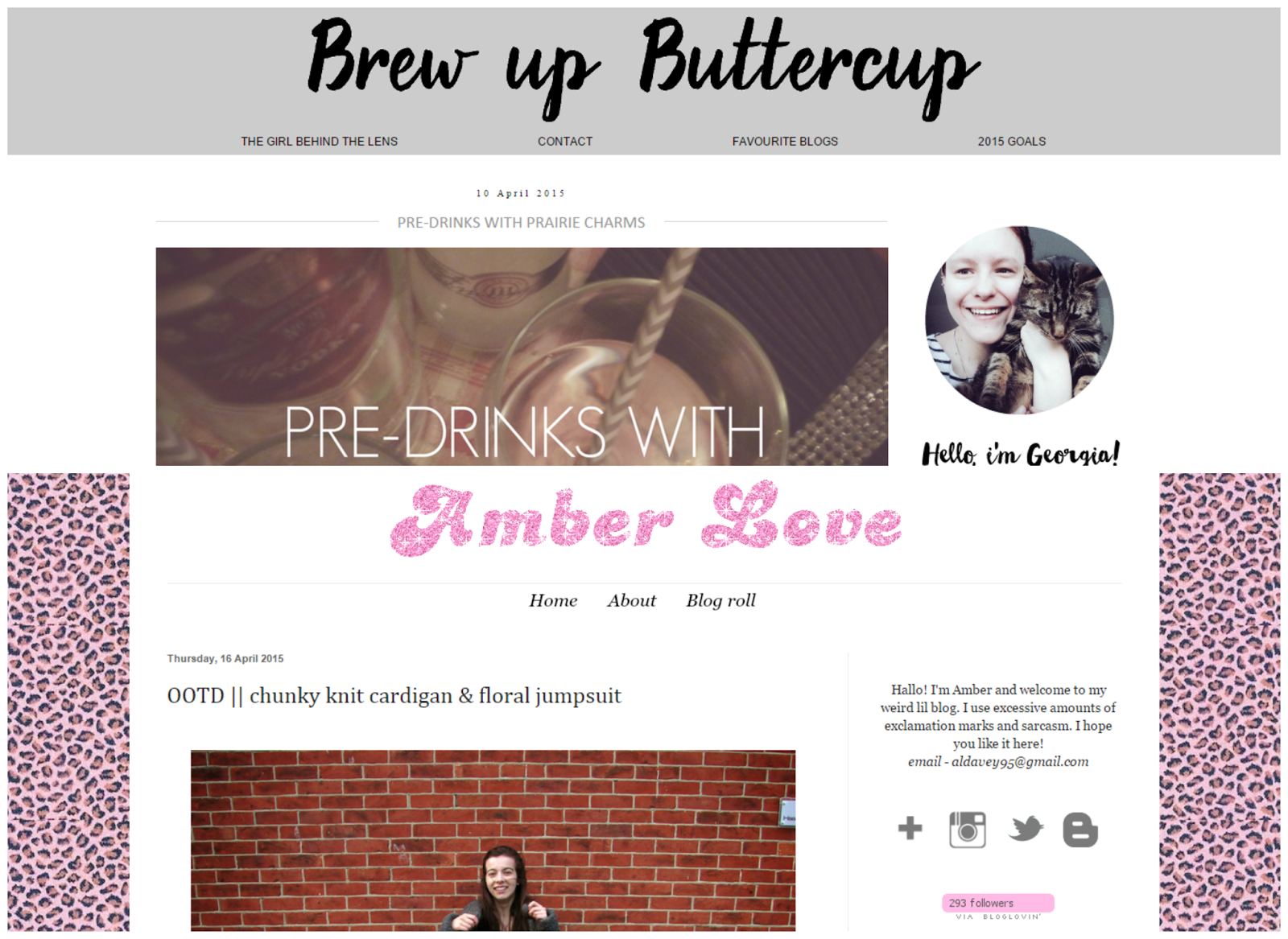 bloggers i love favourite georgia shipley brew up buttercup amber love blog
