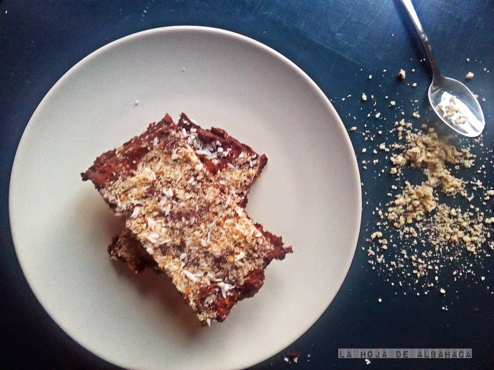 Tropical raw brownie, raw food, crudísmo, brownie, sin gluten, sín azúcar,vegan
