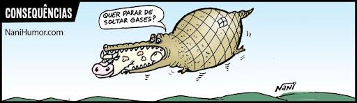 Tiras: Consequências. gases