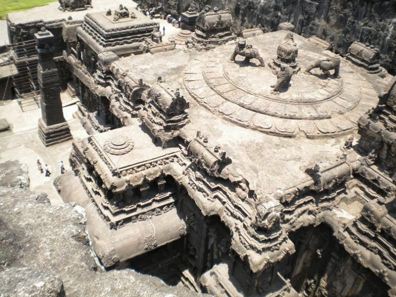 Lions at Rock cut kailash temple