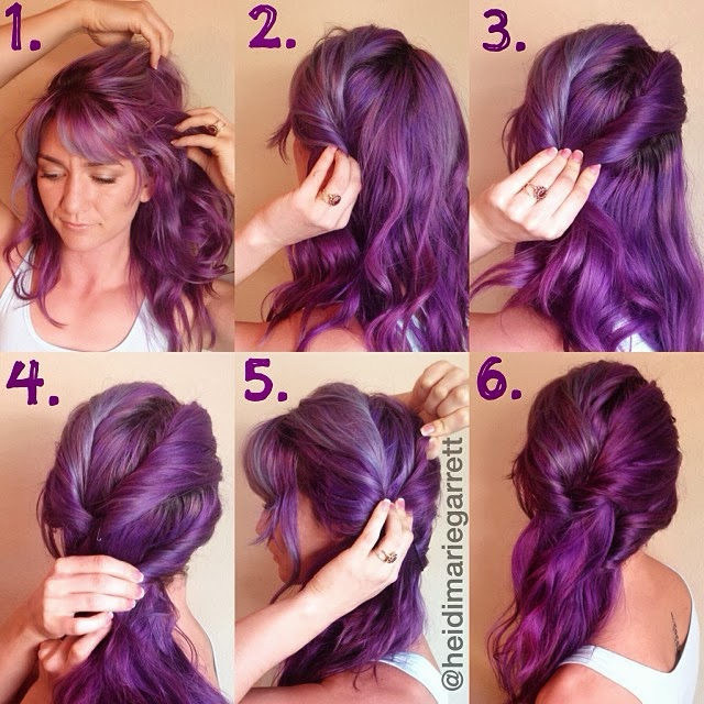 Step by step for a side swept hairstyle Hairstyle