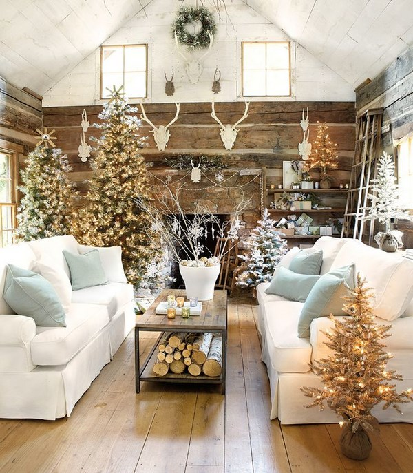 45 ideas de decoraci n navide a para navidad - Decoracion navidena rustica ...