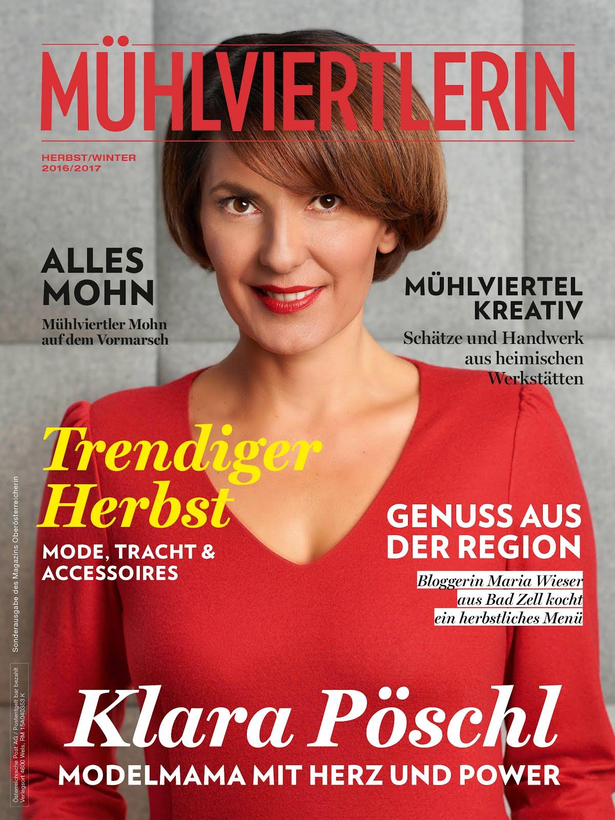 Das Mädel vom Land in der ersten Ausgabe der Mühlviertlerin!