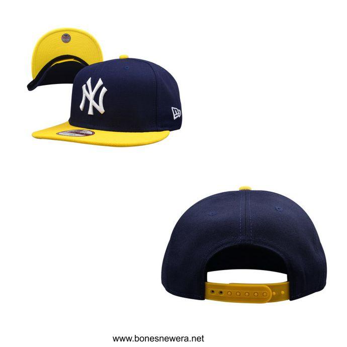 Boné New Era NY Yankees Azul Marinho, Amarelo Snapback
